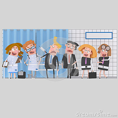 Free Businesspeople At Clinic For Medical Review Stock Images - 93343834