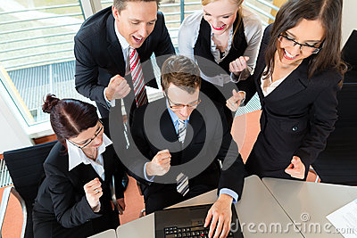 Businesspeople have team meeting in office