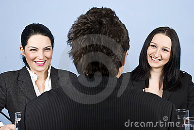 Businesspeople job interview