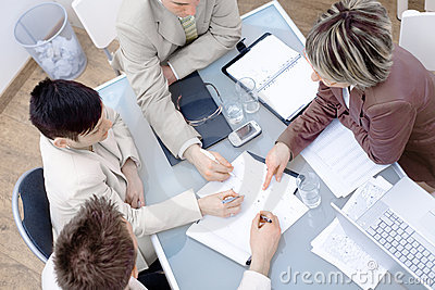 Businesspeople on meeting at office