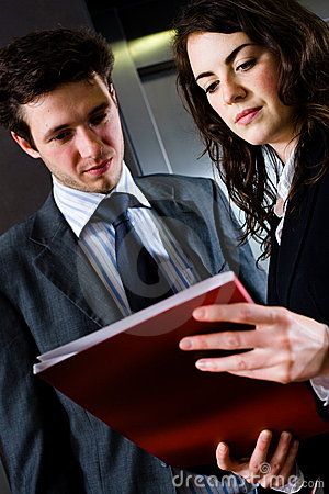 Free Businesspeople Reading  Stock Image - 6751861