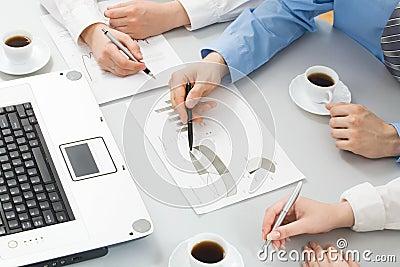 Businesspeople�s hands