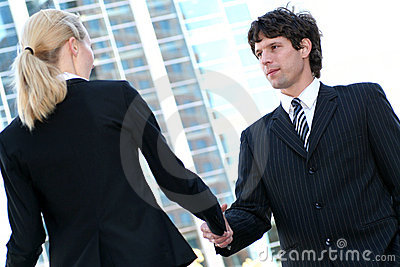 Businesspeople shaking hands