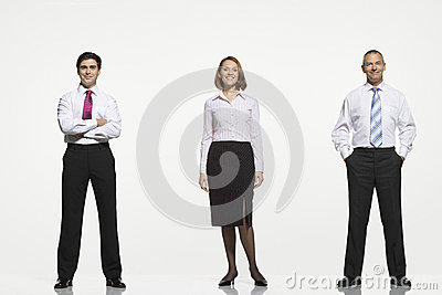 Businesspeople Standing Side By Side