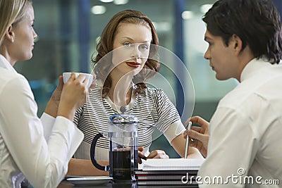 Businesspeople Taking A Coffee Break