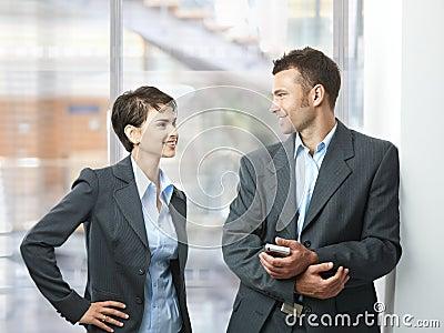 Businesspeople talking