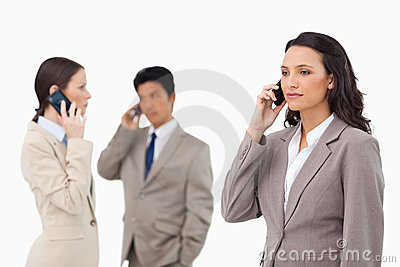 Businesspeople talking on the phone