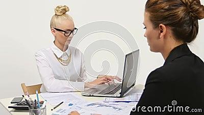 Businesspeople twee, of bedrijfspersoon en cliënt stock video