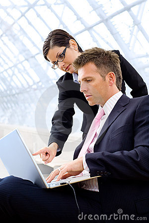 Free Businesspeople Using Laptop Stock Images - 8329354