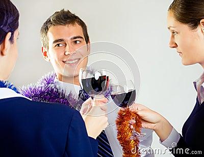 Businessperson celebrating