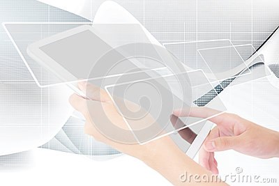 Businessperson Using A Digital Tablet