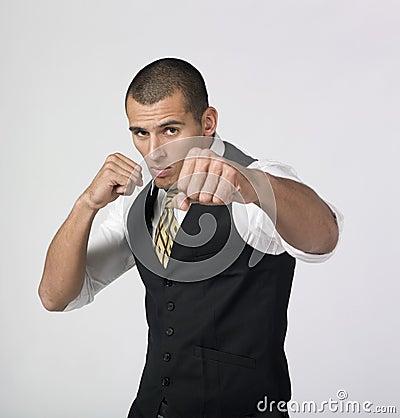 Businesssman fighting