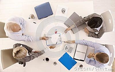 Businessteam busy working