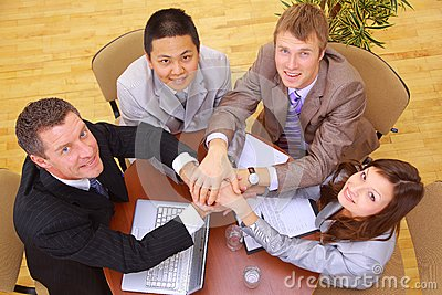 Businessteam and hands