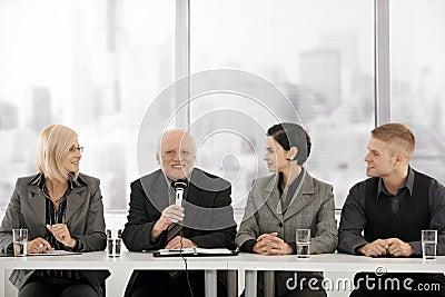 Businessteam on meeting