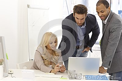 Businessteam working in office