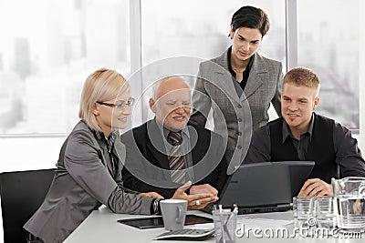 Businessteam working together