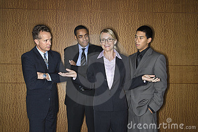 Businesswoman Amongst Businessmen