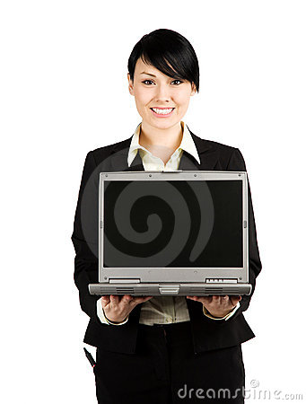 Free Businesswoman And Laptop Royalty Free Stock Photos - 4474768