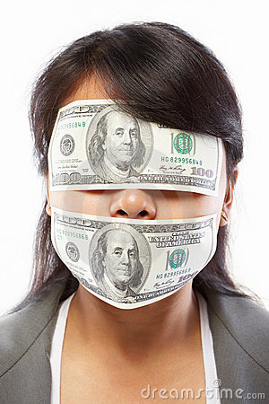Free Businesswoman Being Blinded With Money Stock Photos - 20479263