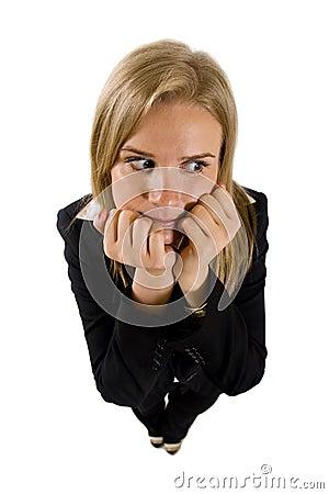Businesswoman being worried