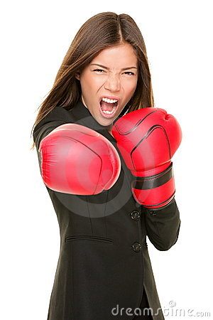 Free Businesswoman Boxing Royalty Free Stock Image - 20573976