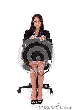 Businesswoman briefcase application
