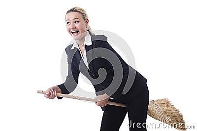 Businesswoman with brush