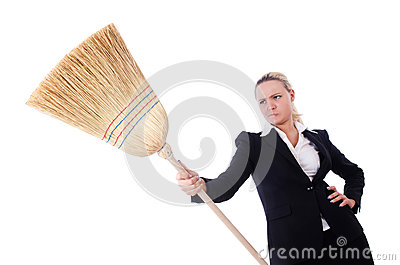 Businesswoman with brush