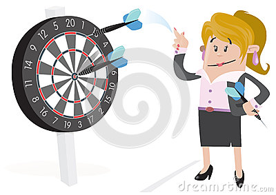 Businesswoman Buddy Hits a Bullseye.