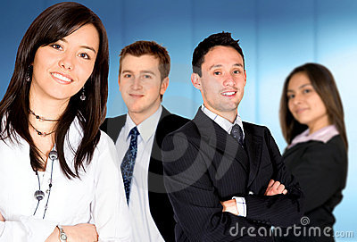 Businesswoman - business team