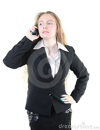 Businesswoman calling on the phone