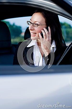 Businesswoman cellphone