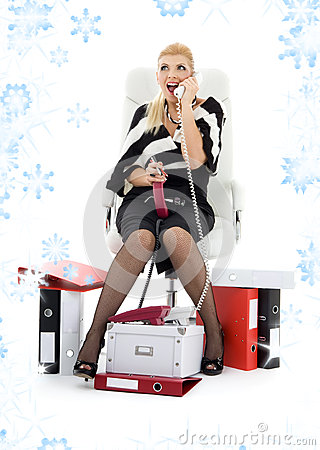 Businesswoman in chair
