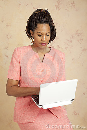 Businesswoman Checks E-mail