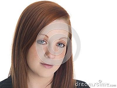 Businesswoman - closeup stare