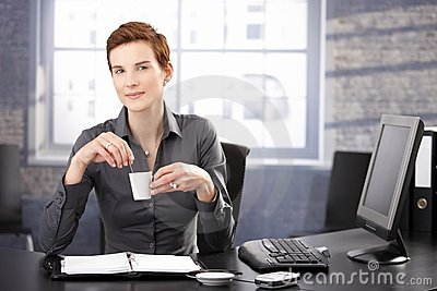 Businesswoman on coffee break
