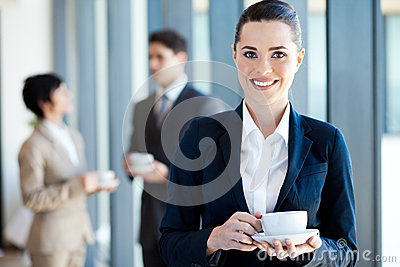 Businesswoman coffee break