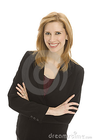 Businesswoman with confidence