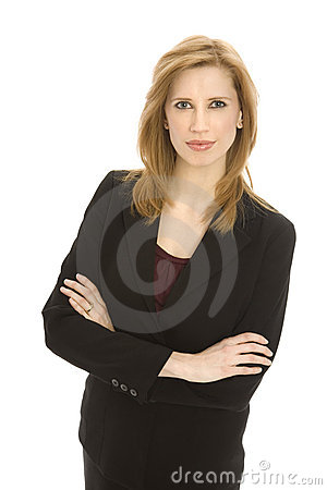 Businesswoman crosses her arms