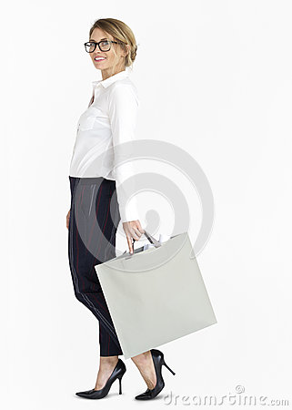 Free Businesswoman Design Blueprint Bag Portrait Concept Stock Photo - 89806160