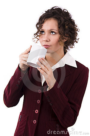 Businesswoman Drinking Coffee Royalty Free Stock Photo - Image: 12925195