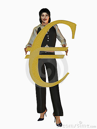 Businesswoman with Euro sign