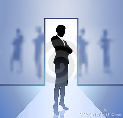Businesswoman executive in focus