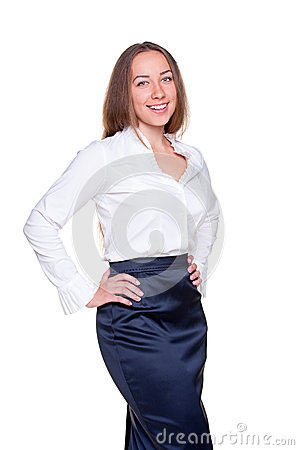 Businesswoman in formal clothes