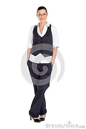 Businesswoman full length