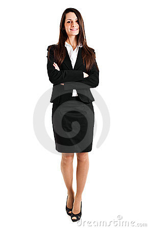 Businesswoman full length