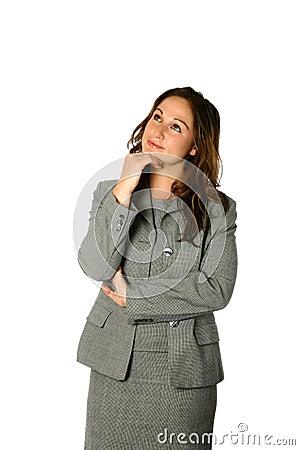 Businesswoman getting ideas