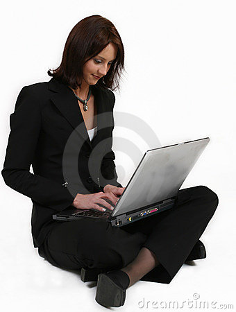 Businesswoman giving all her attention to her work