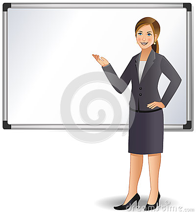 Businesswoman giving a presentation